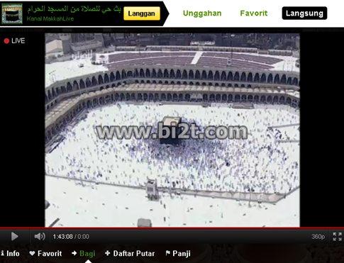 TV Online Video Striming Langsung Dari Kabah Mekah Madinah Tanah Suci