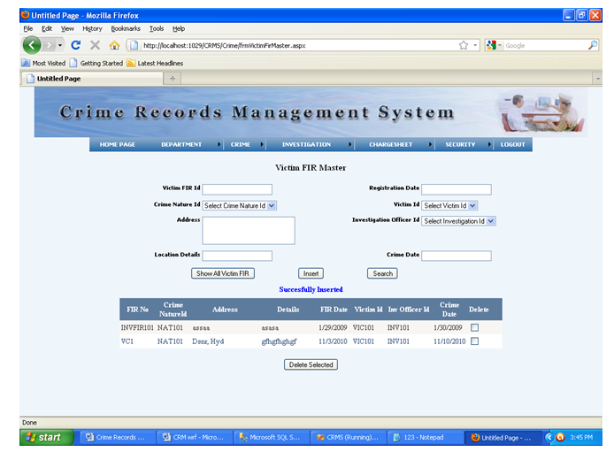 e crime file managment system Crime file management a java project  the user can file a complaint, add a crime report,  can you give me more information on criminal file management system.