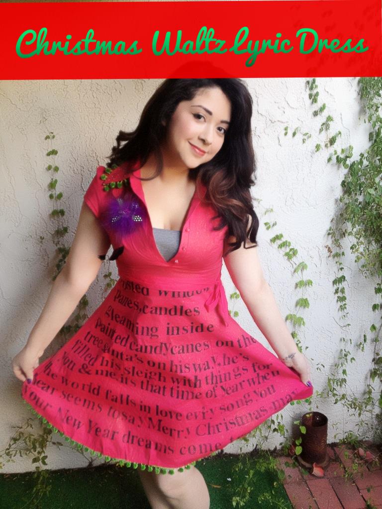 Christmas dress teen - Mayainthemoment Teen Craft Christmas Waltz Lyric Dress