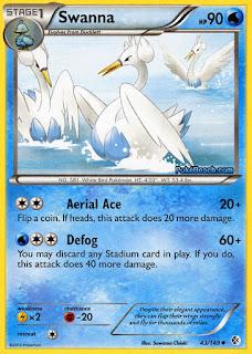 Swanna Boundaries Crossed Pokemon Card