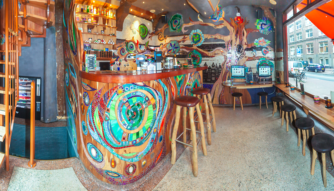 Brainstorm abraxas mosaic mural for Mural coffee shop