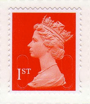 1st class Machin definitive in Royal Mail Red, 2013.