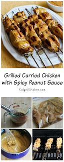 Grilled Curried Chicken  Skewers with Spicy Peanut Sauce [from KalynsKitchen.com]
