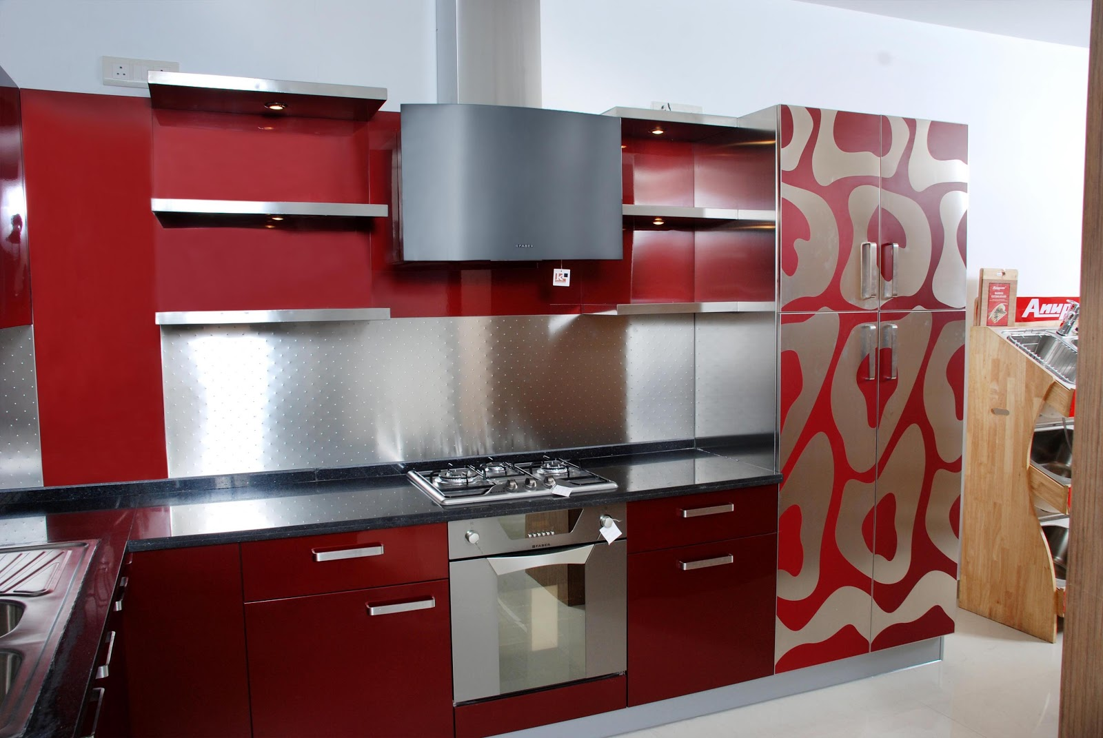 Stainess steel kitchen company india stainless steel for Modular kitchen shelves designs