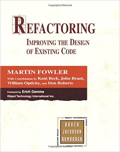 Refactoring: Improving the Design of Existing Code front cover