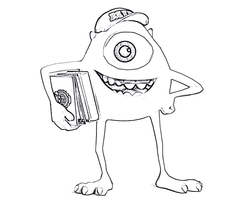 #5 Monsters University Coloring Page