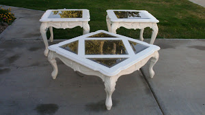 Glass Top Coffee Table and End Tables  *SOLD*