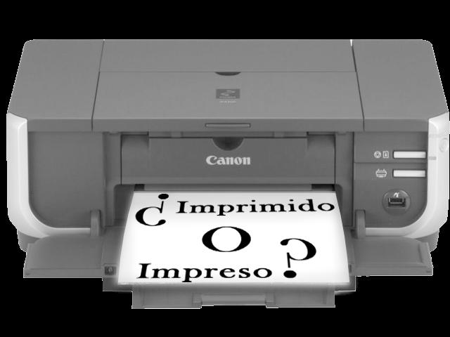 El verbo imprimir