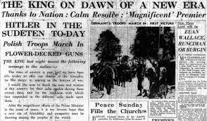 Munich summit 1938 British public opinion peace war