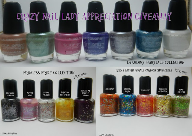 Crazy Nail Lady's Appreciation Giveaway