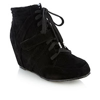 Black high wedge lace up ankle boots - H! by Henry Holland