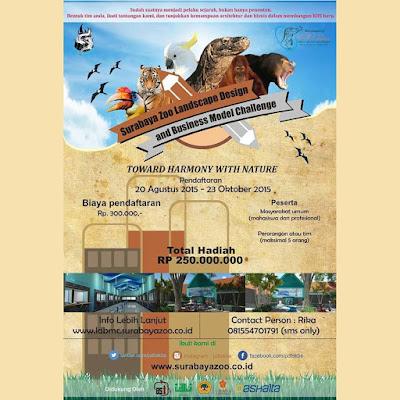 lomba landscape kebun binatang surabaya