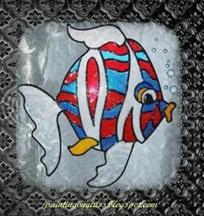 folk art glass paint instructions