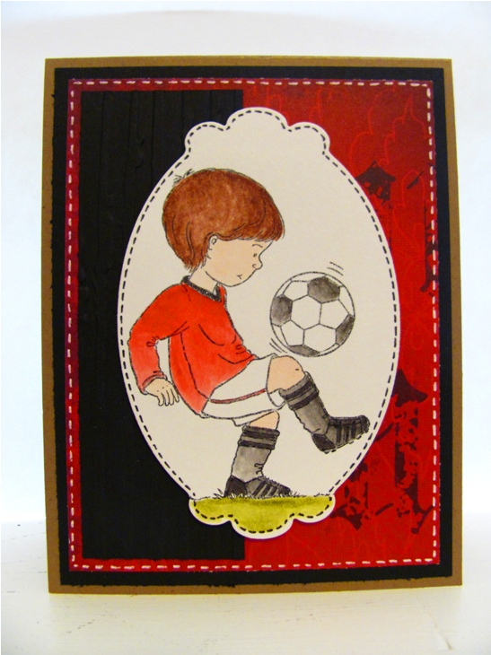 madebyHULDA Soccerfootball and knitting – Man Utd Birthday Card