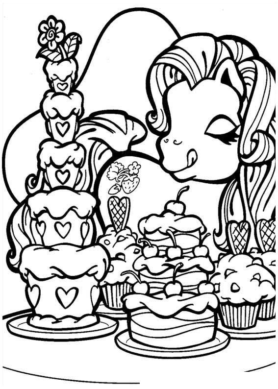 Baú da Web: Desenhos My Little Pony para Colorir
