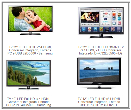 Onde comprar TV LCD LED Barata