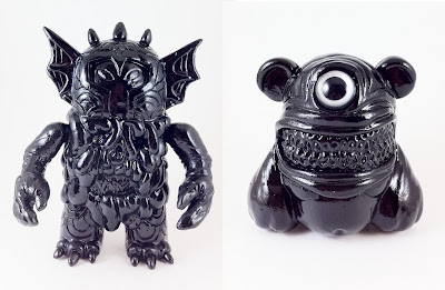 Unpainted Black Gloss Outsider & Unpainted Black Gloss Meathead Resin Figures by Motorbot