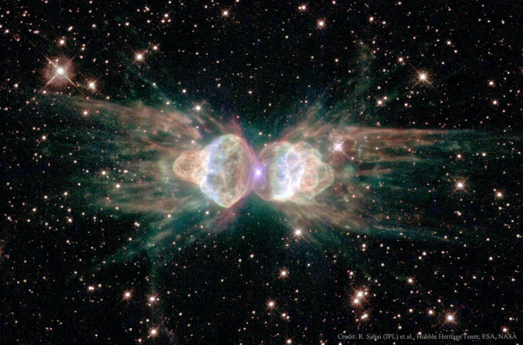Tinh vân hành tinh Mz3 : Tinh vân con kiến. Bản quyền hình : R. Sahai (JPL) et al., Hubble Heritage Team, ESA, NASA.