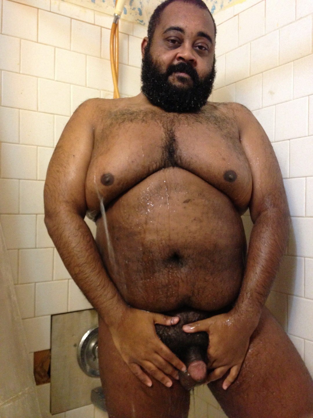 Hairy black nude men consider