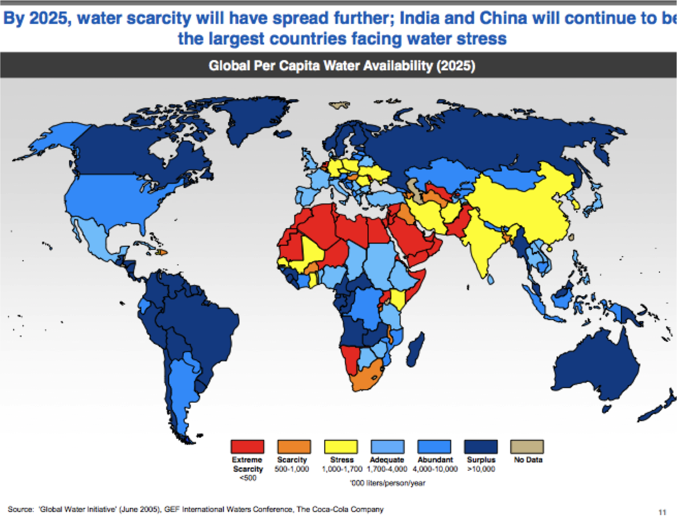 Water Scarcity and the United Nations
