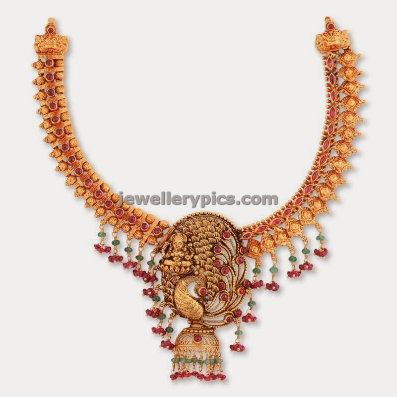 malabar gold antique gold necklace