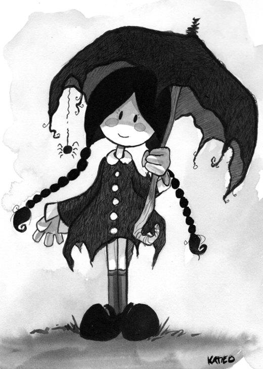 Wednesday Addams por Katie-O