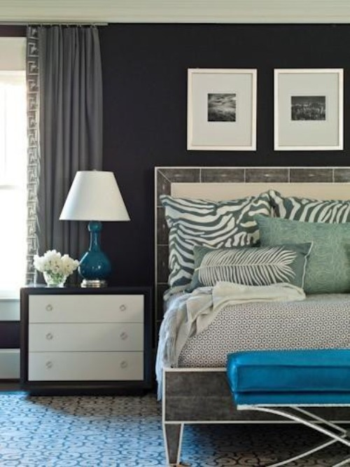 black white and gray bedroom design is like a classic old hollywood