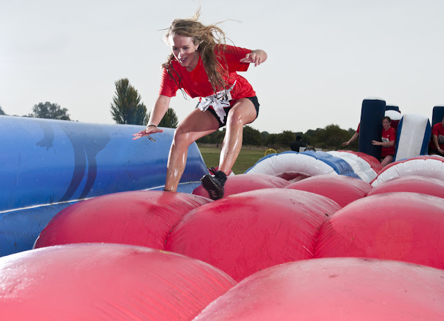running on inflatables