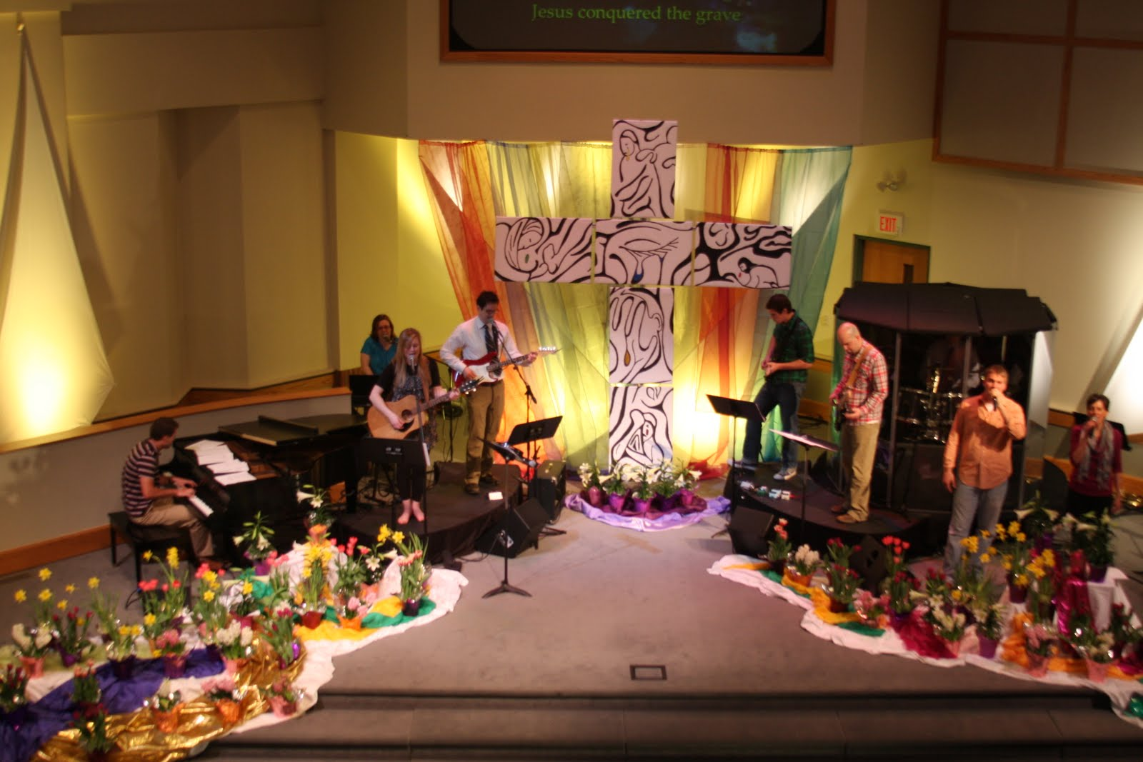 Church stage decorating ideas for Church mural ideas