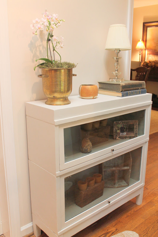 Woven Home: Barrister Bookshelf Makeover