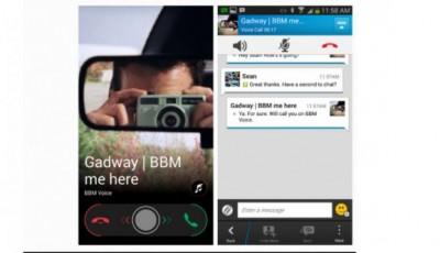 Panggilan Suara Gratis di BBM Android dan iOS Rilis 2014