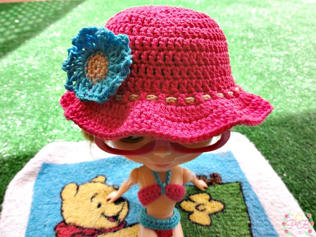 Sombrero de ganchillo para blythe