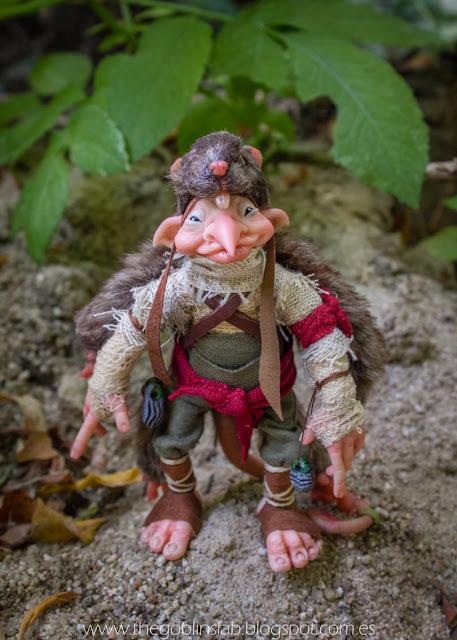 ooak criatura fantastica elfo mensajero reina maab