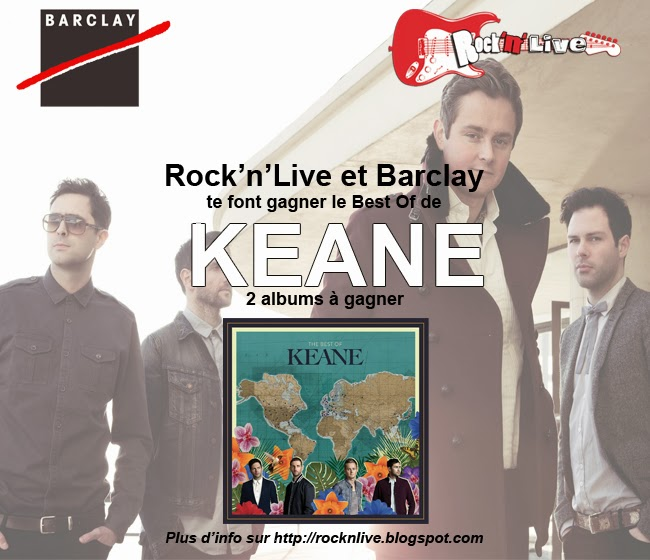 Keane Concours Strangeland Best Of Tom Chaplin Tim Rice-Oxley Everybody's Changing Somewhere Only We Know Barclay Rock'n'Live 2013