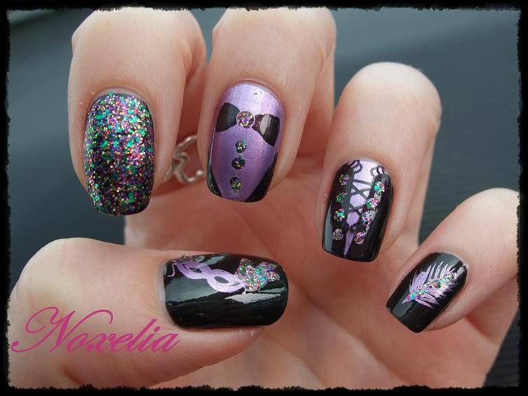 Noxelia stamping nail art look de u as n 153 carnaval - Pintaunas kiko efecto espejo ...
