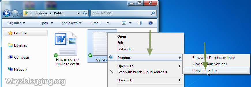 How to Host Your Blogger Script and Files on DropBox for Free - Step11