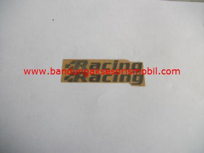 Emblem Alumunium 3M Kecil 2 Pcs racing