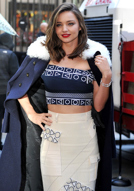Miranda Kerr - Swarovski Star raising for 2015 Rockefeller Center Christmas Tree in NYC