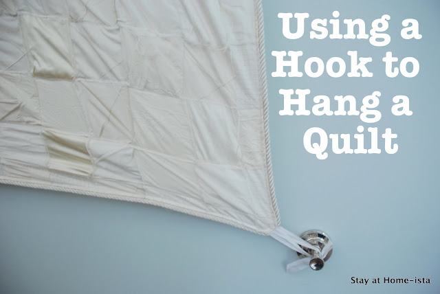 using hooks to hang a quilt