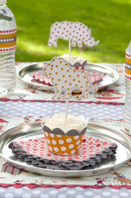 Aesthetic Nest Party Vintage Polka Dot Zoo Birthday for Audrey
