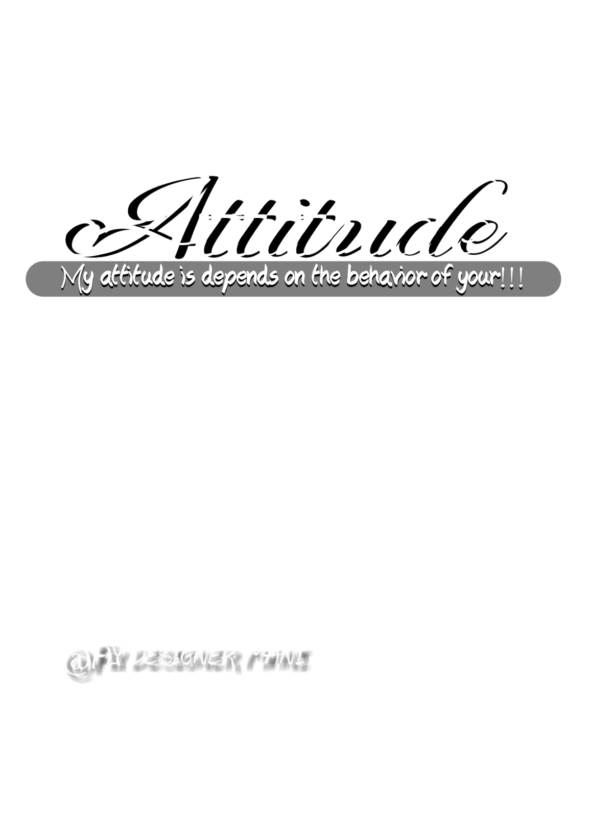 Attitude Png New HDby Me