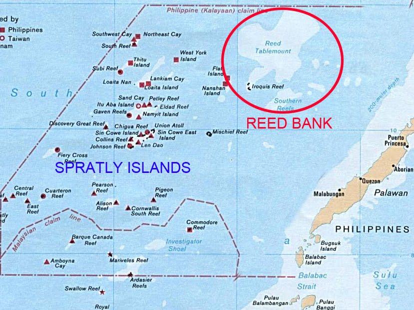 China grabbing reed bank 50 miles off palawan - Bank of the philippine islands head office ...