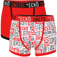 Ecko Men's 2-Pack Boxers - Red/White