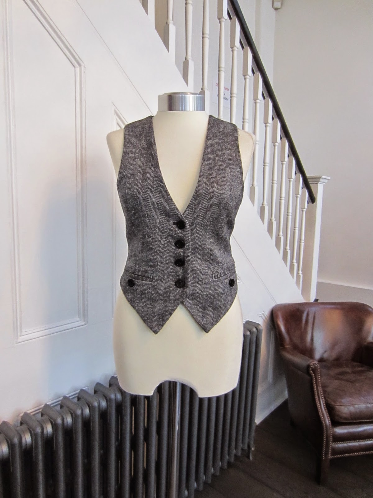 By Malene Birger Black & White Wool Waistcoat