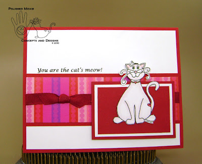 Picture of handmade Cat's Meow Moxie Card