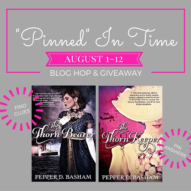 """Pinned in Time"" Blog Hop + Giveaway 8/1 thru 8/20"