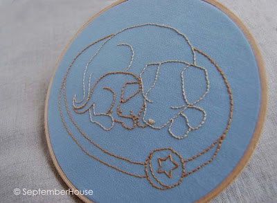 puppy hand embroidery pattern