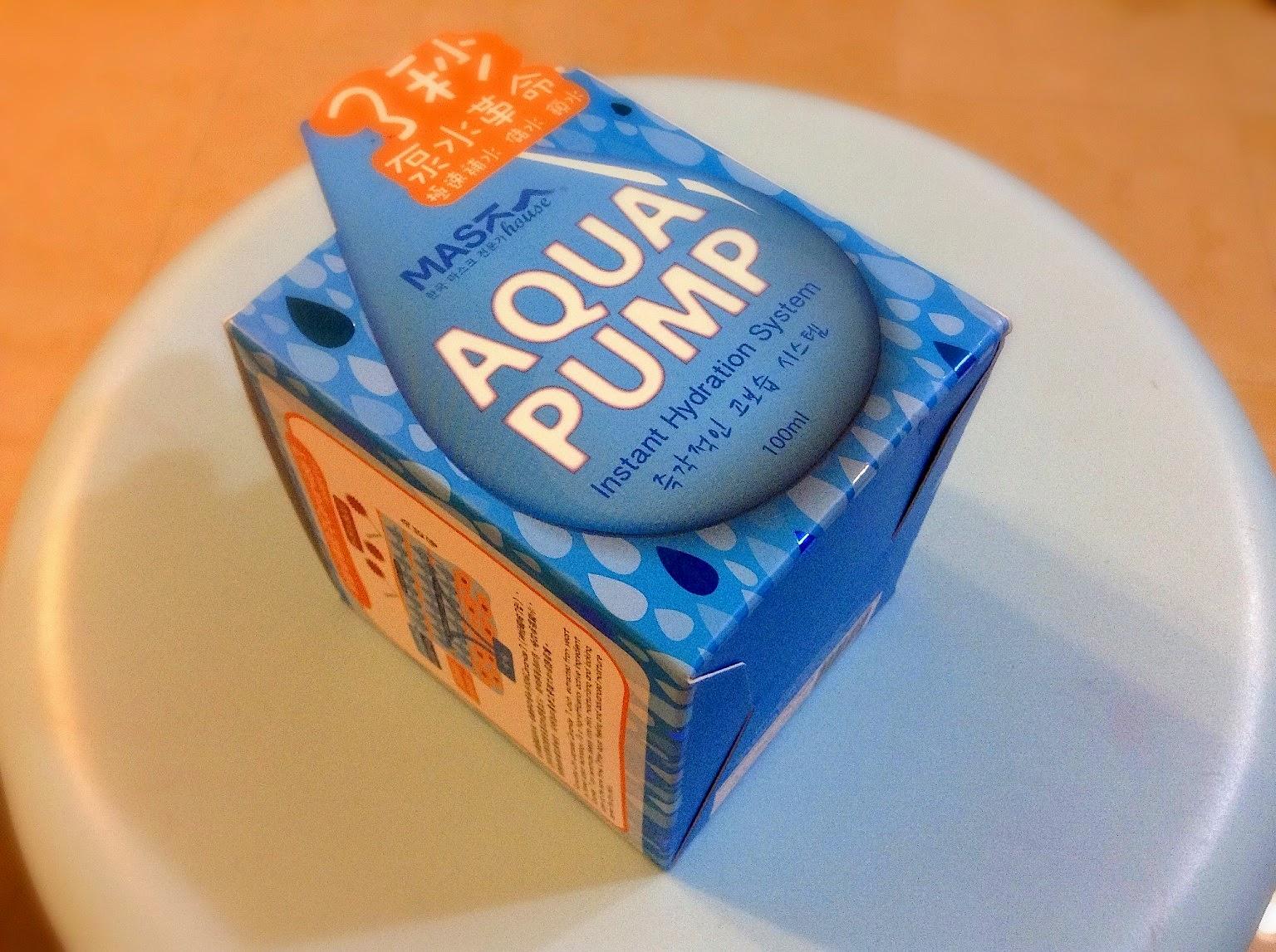>> 韓式分子釘 3 秒泵水*Mask House Aqua Pump 補水王精華