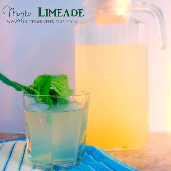 Mojito Limeade Sweetness of limeade meets the coolness of mint to create the Mojito Limeade. A recipe from Seduction in the Kitchen.
