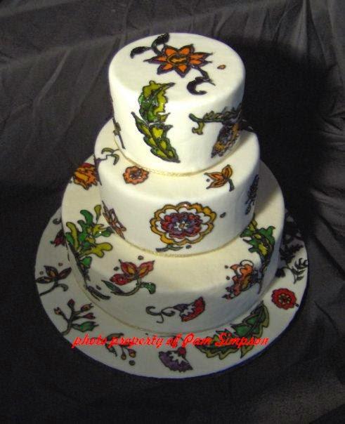 Senatobia MS wedding cake fondant